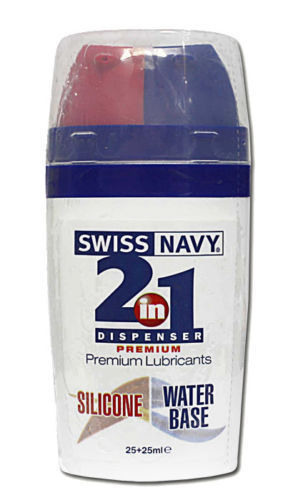 Lubricante íntimo base agua y silicona Swiss Navy 50ml