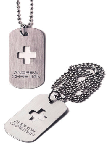 Collar para hombre Andrew Christian Dog Tag