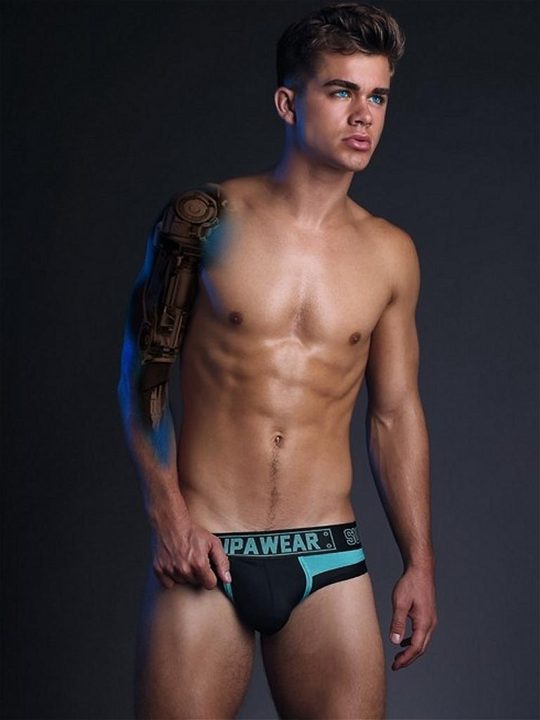 Supawear cyborg brief lencer a para gays slips masculinos for Ropa interior sexi masculina